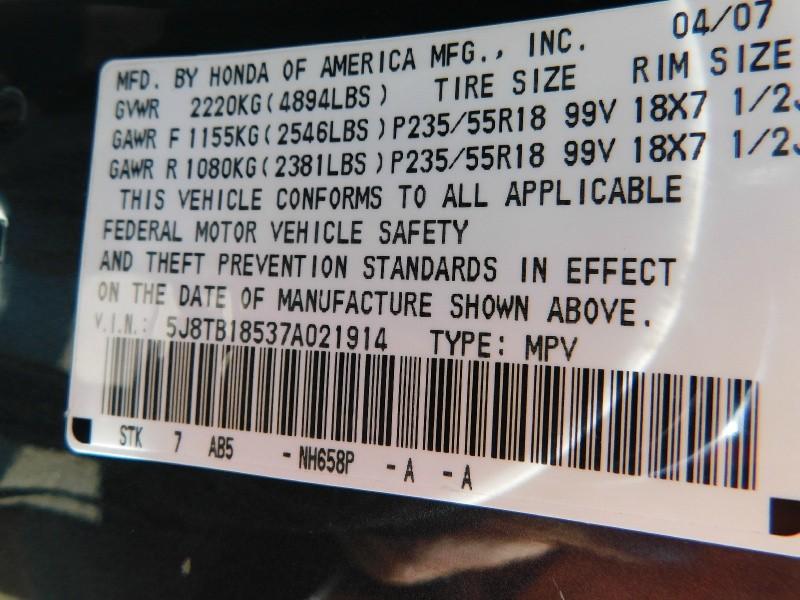 Acura RDX 2007 price $1,200Down