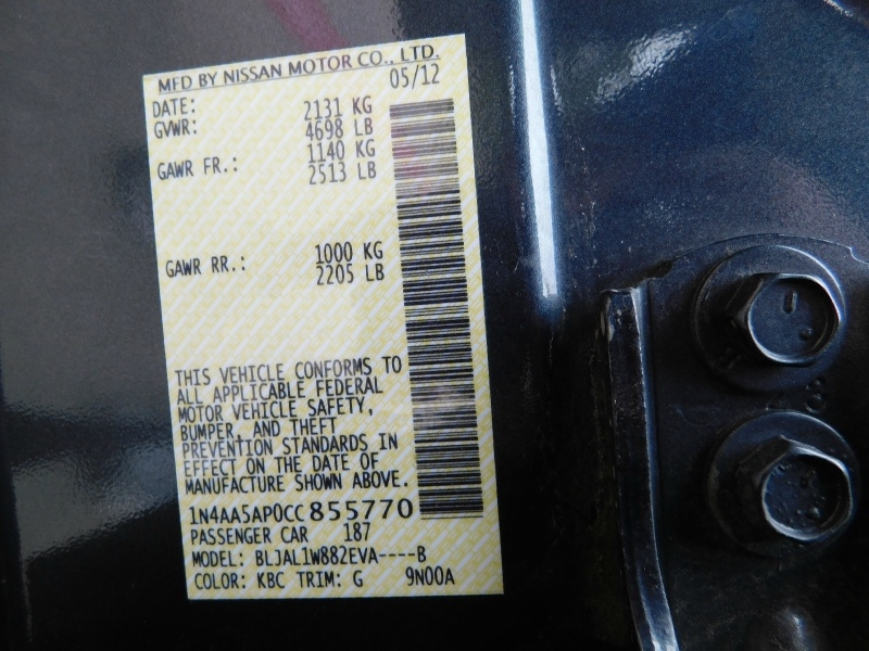 Nissan Maxima 2012 price $1,500 Down