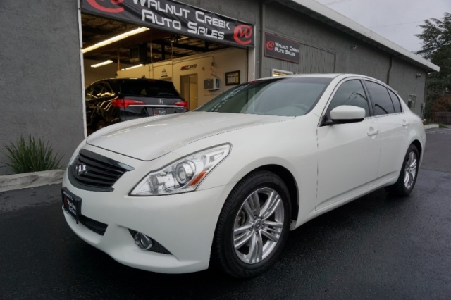 2012 Infiniti G37 Sedan White Fully Loaded Inventory Walnut