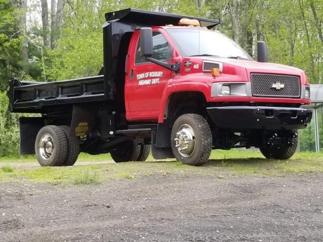 2006 chevy c4500 4wd dump truck duramax diesel boss v plow  2006 chevrolet c4500 4wd dump truck with boss v blade plow