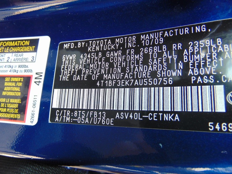 Toyota Camry 2010 price $5,555