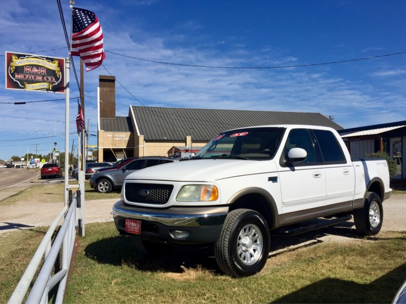 2001 ford f 150 supercrew inventory h h motor co auto dealership in lewisville texas. Black Bedroom Furniture Sets. Home Design Ideas