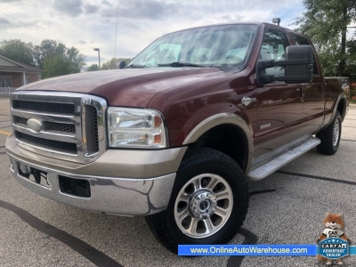 2005 *Ford F250* *DIESEL POWERSTROKE* 4X4 CREW CAB KING RANCH 180K SHORT BED WE FINANCE