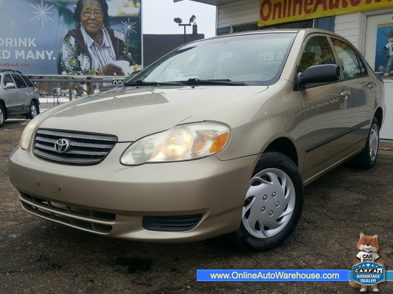 2004 toyota corolla sedan auto 35 mpg perfect runner needs nothing online auto warehouse llc imports auto goup llc auto dealership in akron online auto warehouse llc