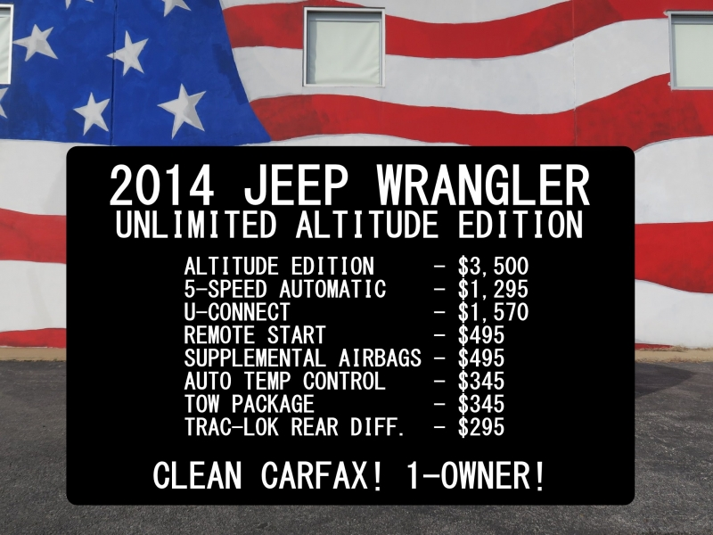 Jeep Wrangler Unlimited 2014 price $29,999