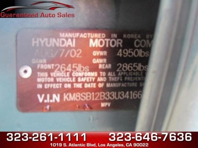 Hyundai Santa Fe 2003 price $2,950