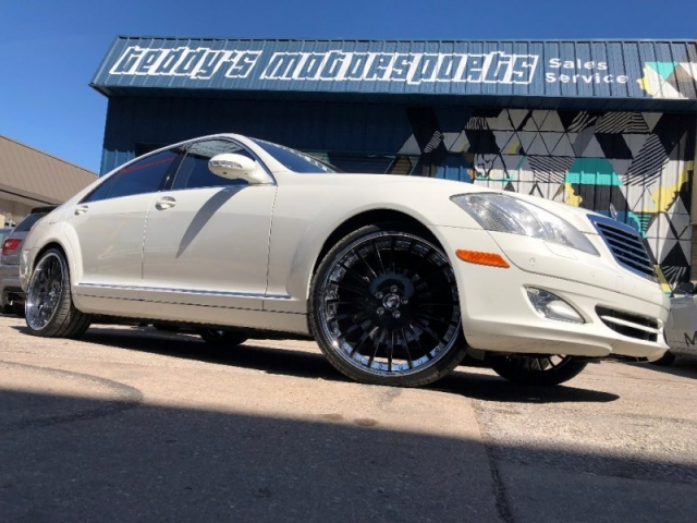2008 Mercedes Benz S550 White/Black With 22u0027 Forgiato Wheels