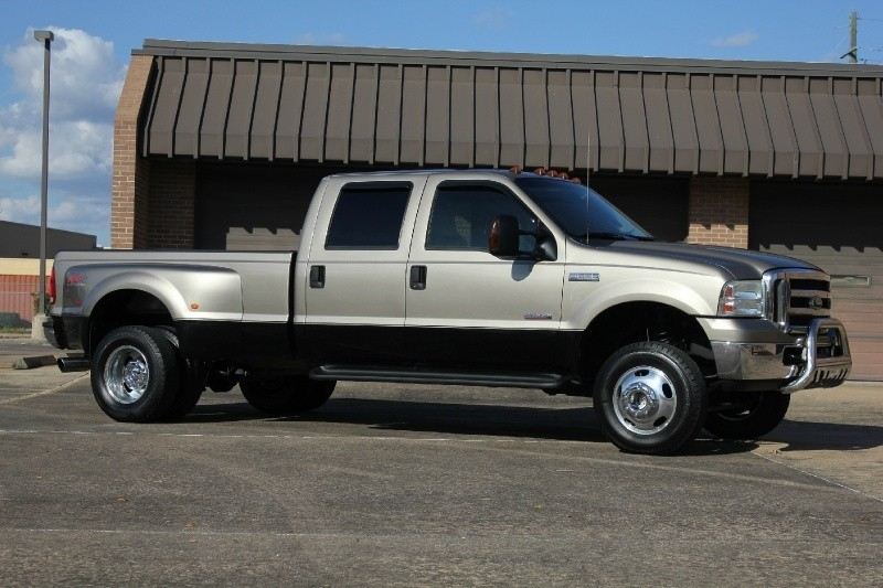 lifted 2005 ford f350 lariat leather diesel 4x4 heated dually 6.0l