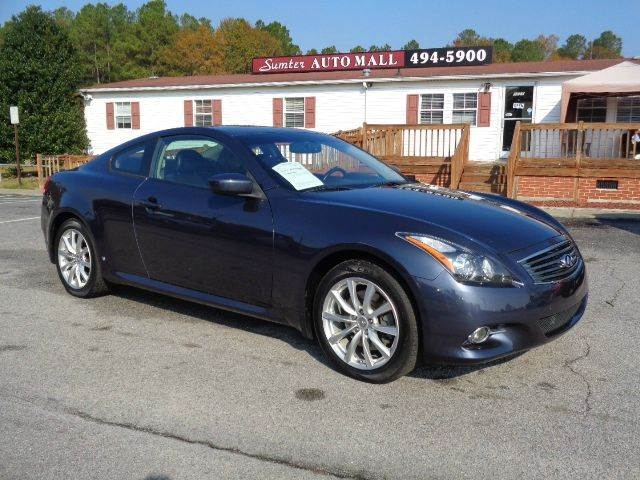 2011 Infiniti G37 Coupe X Awd 2dr Coupe Inventory Sumter Auto