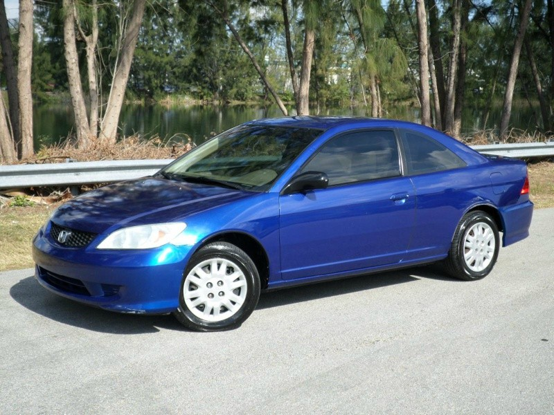 2005 honda civic cpe lx coupe blue tan inventory wholesale cars florida auto dealership in. Black Bedroom Furniture Sets. Home Design Ideas