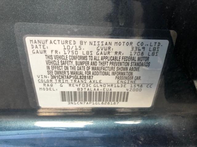 Nissan Versa 2016 price $6,950