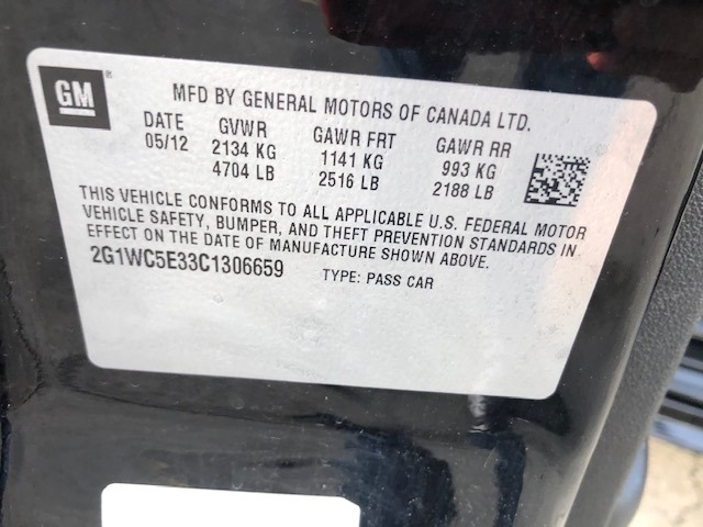 Chevrolet Impala 2012 price $7,400