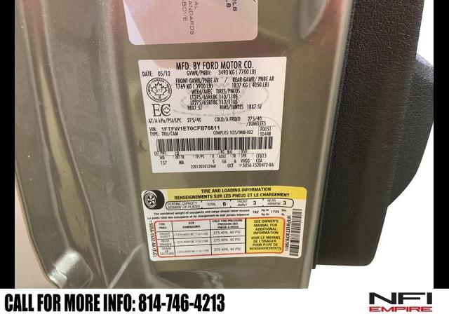 Ford F150 SuperCrew Cab 2012 price $18,140