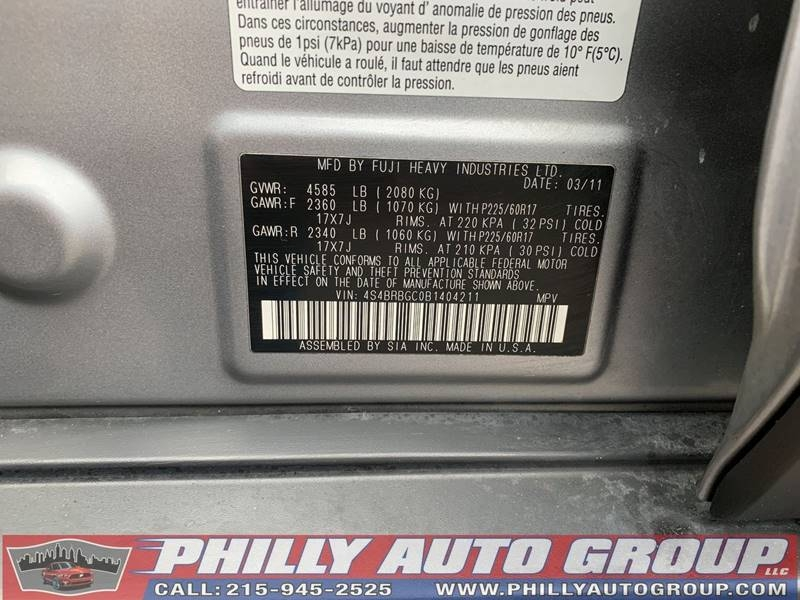 Subaru Outback 2011 price $9,885