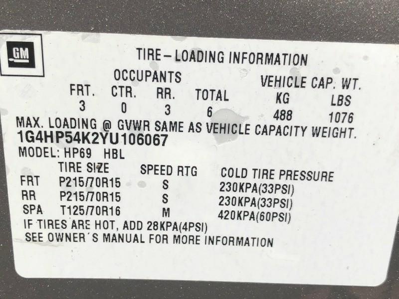 Buick LeSabre 2000 price $3,375