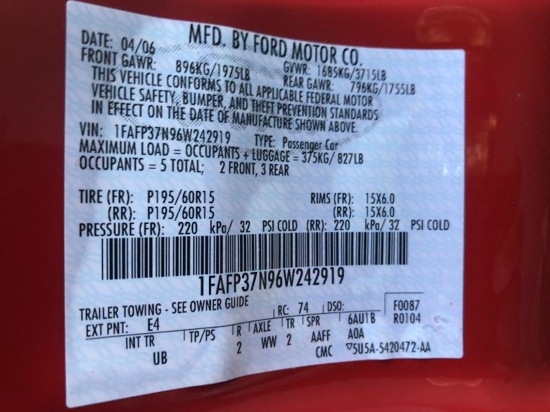 Ford Focus 2006 price $3,450