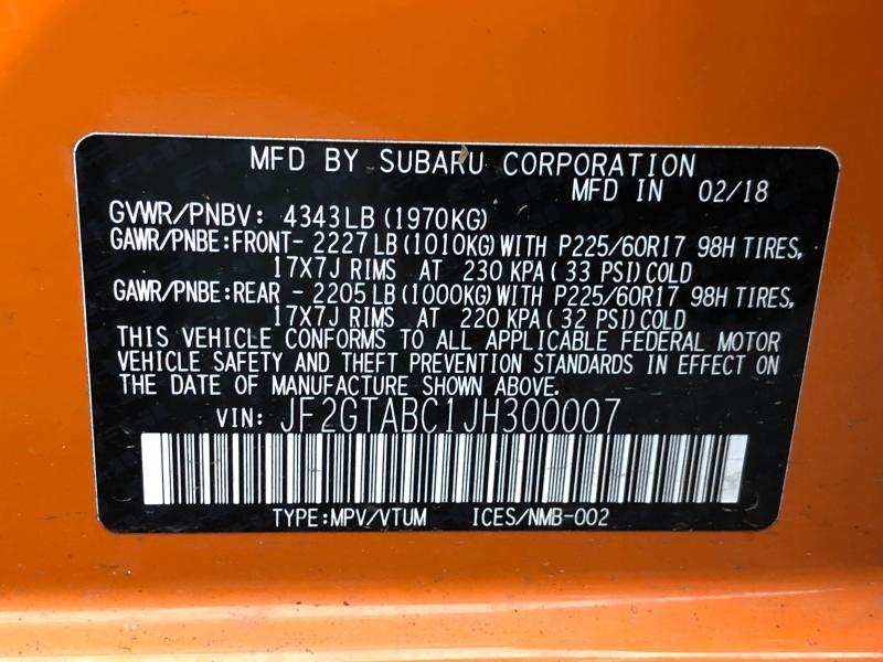 Subaru Crosstrek 2018 price $17,500