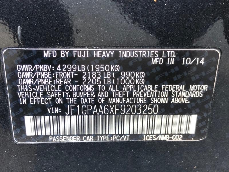 Subaru Impreza Wagon 2015 price $11,500