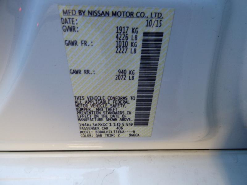 Nissan Altima 2016 price $11,995