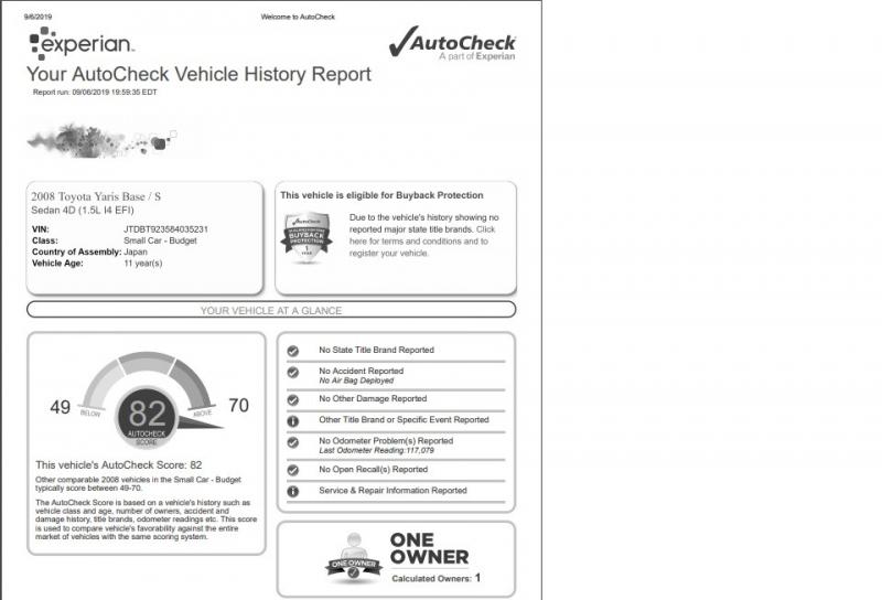 Toyota Yaris 2008 price $4,999