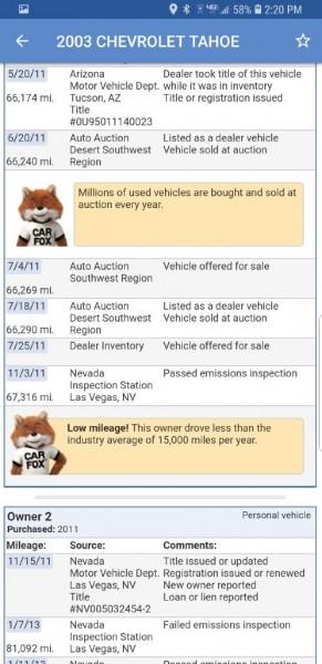CHEVROLET TAHOE 2003 price $4,799
