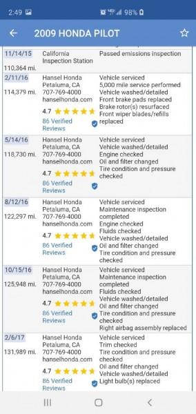 HONDA PILOT 2009 price $7,799