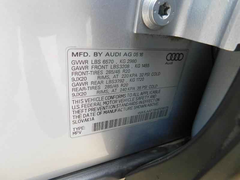 Audi Q7 2017 price $25,990