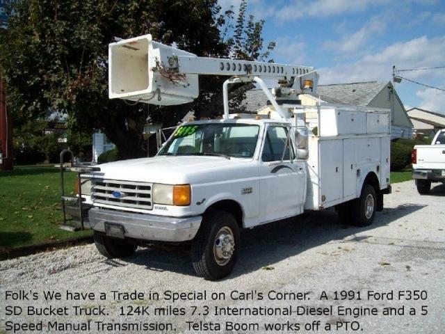 used 1991 ford bucket truck 7 3 diesel 5395 inventory racey rh raceyautosales com Diesel Transfer Pump Manual Diesel Strong Manual Transmission