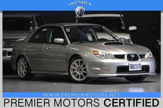 2007 Subaru Impreza Wrx Sti Wsilver Wheels Premier Motors Auto