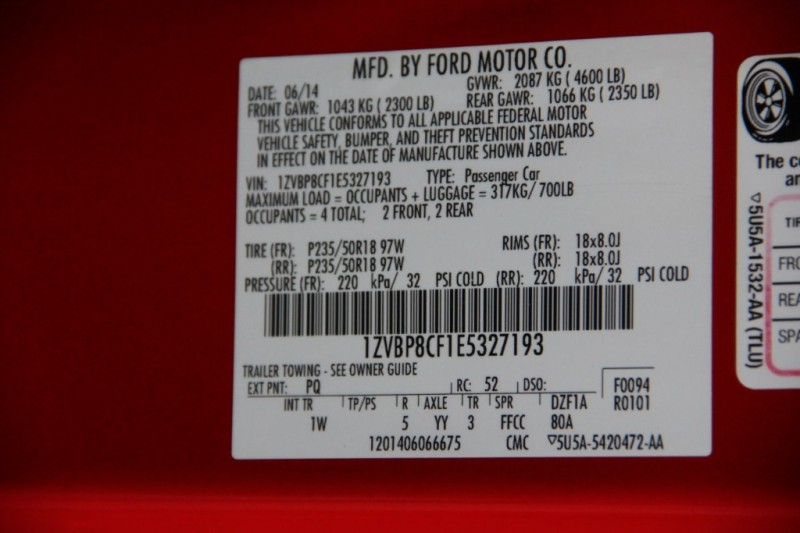 Ford Mustang 2014 price $17,890