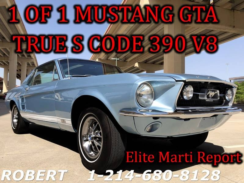 1967 Ford Mustang GT 390 GTA BIG BLOCK 1 OF 1 DELUXE INTERIOR