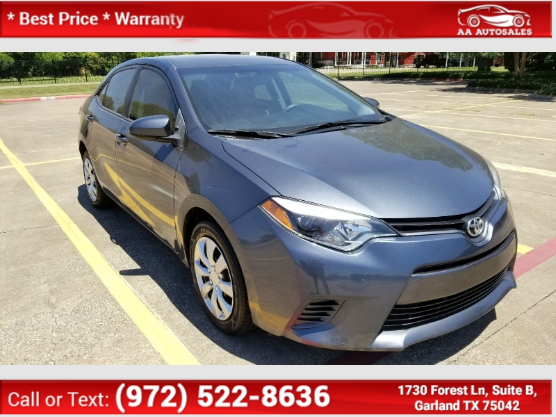 Toyota Corolla 2015 price $7,900