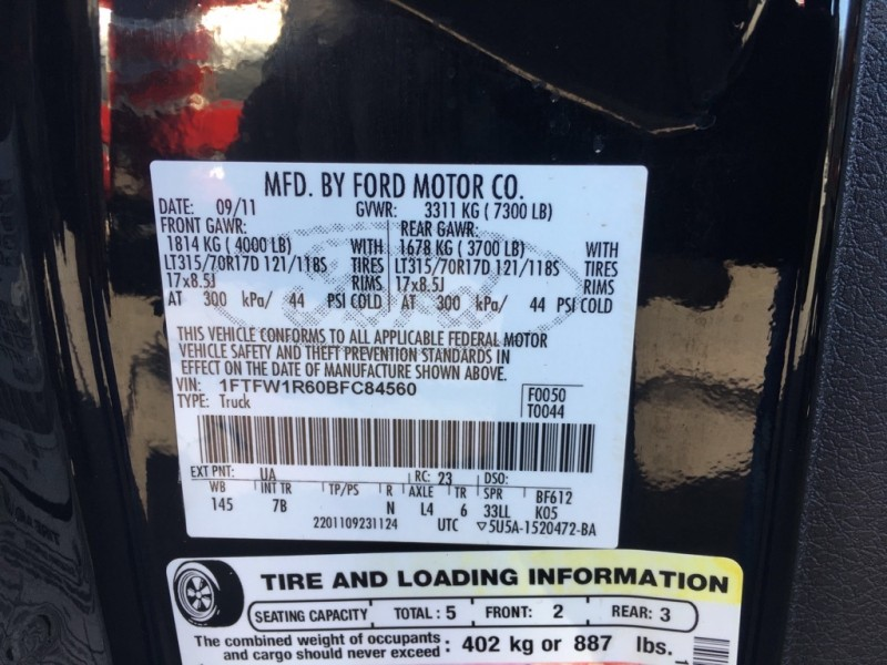 FORD F150 2011 price $31,130