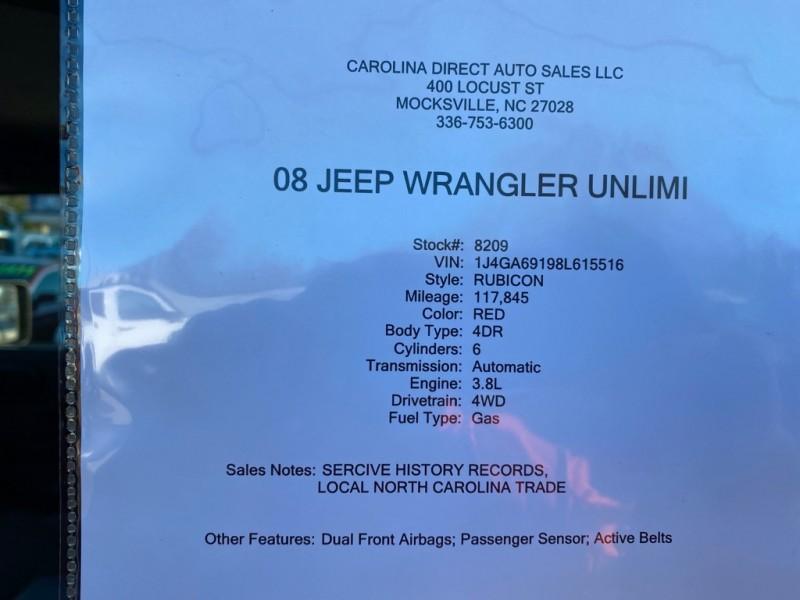 JEEP WRANGLER UNLIMI 2008 price $13,999