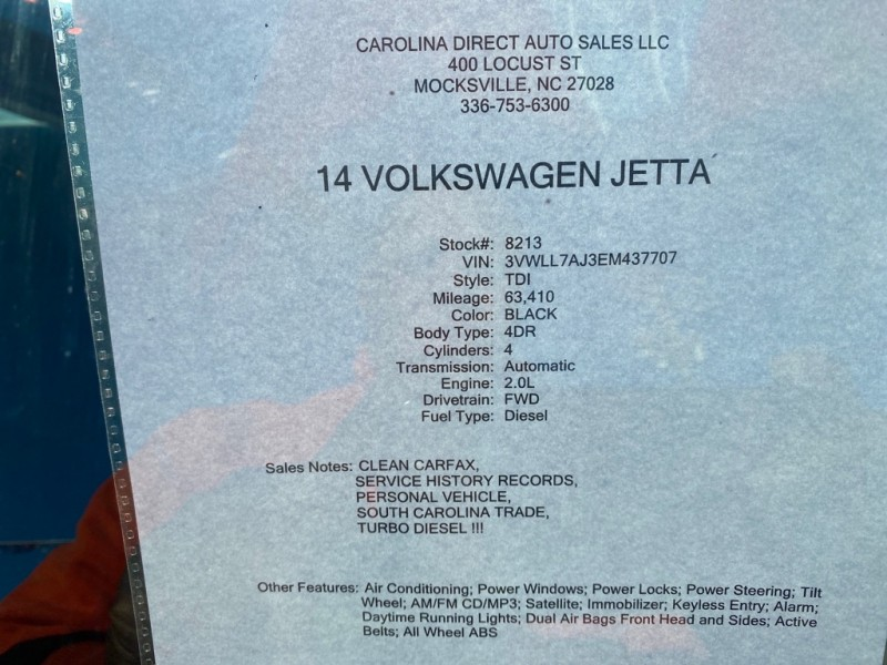 VOLKSWAGEN JETTA 2014 price $8,999