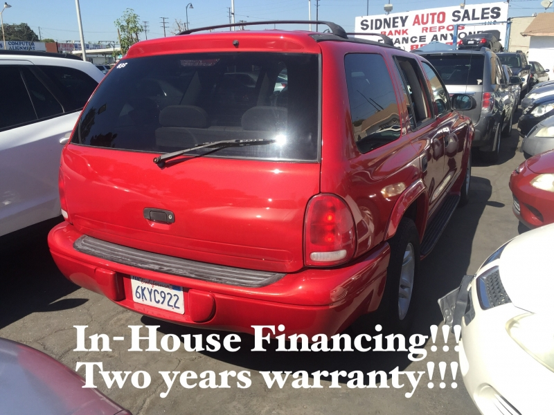 Dodge Durango 2001 price $3,995