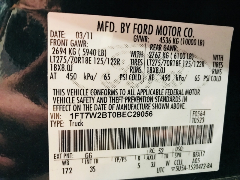 Ford F250 2011 price $17,999