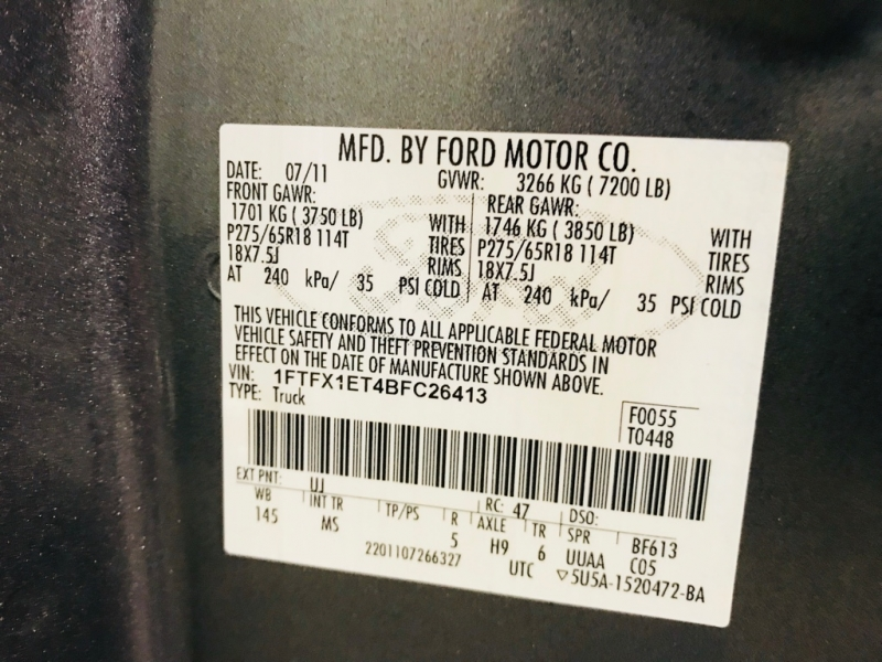 Ford F150 2011 price $18,499