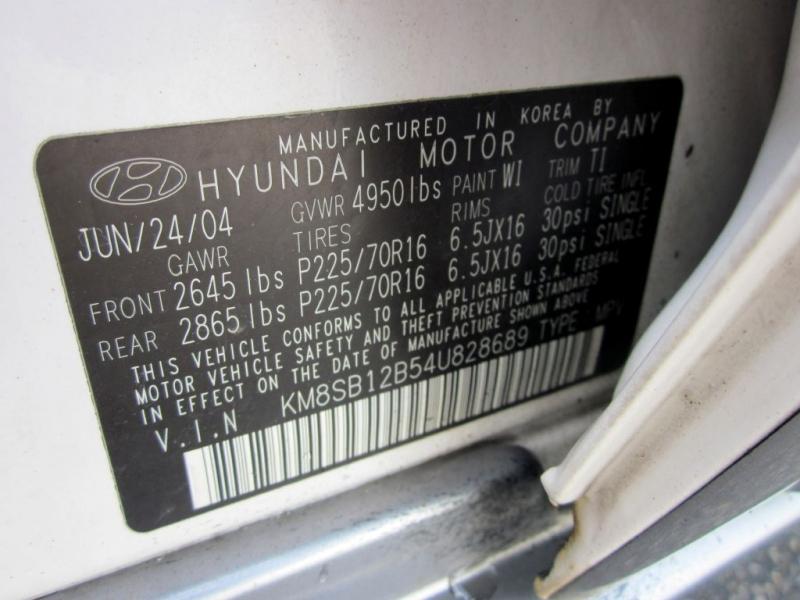 HYUNDAI SANTA FE 2004 price $4,499