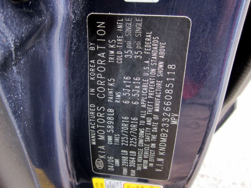 KIA SEDONA 2006 price $4,999