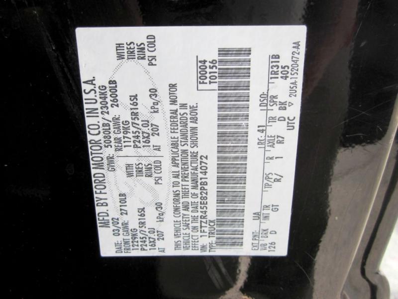 FORD RANGER 2002 price $5,999