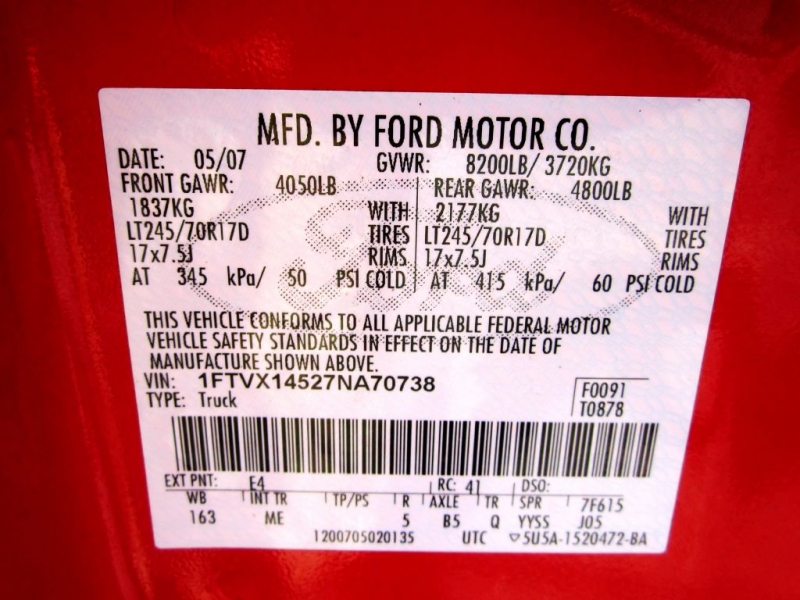 FORD F150 2007 price $9,999