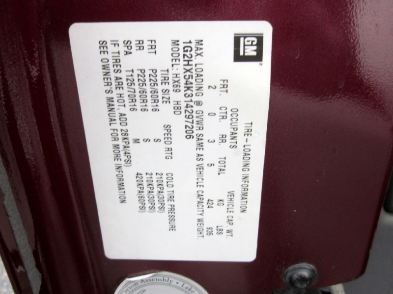PONTIAC BONNEVILLE 2001 price $2,999