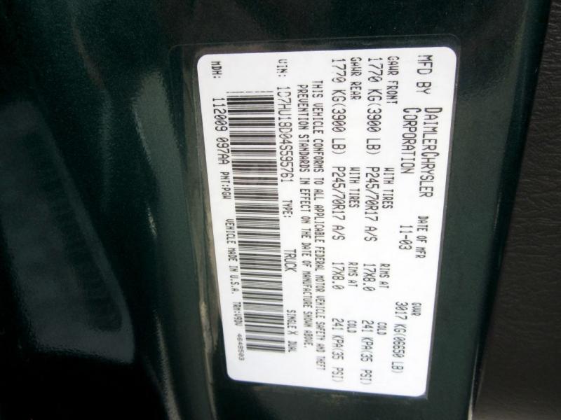 DODGE RAM 1500 2004 price $6,999