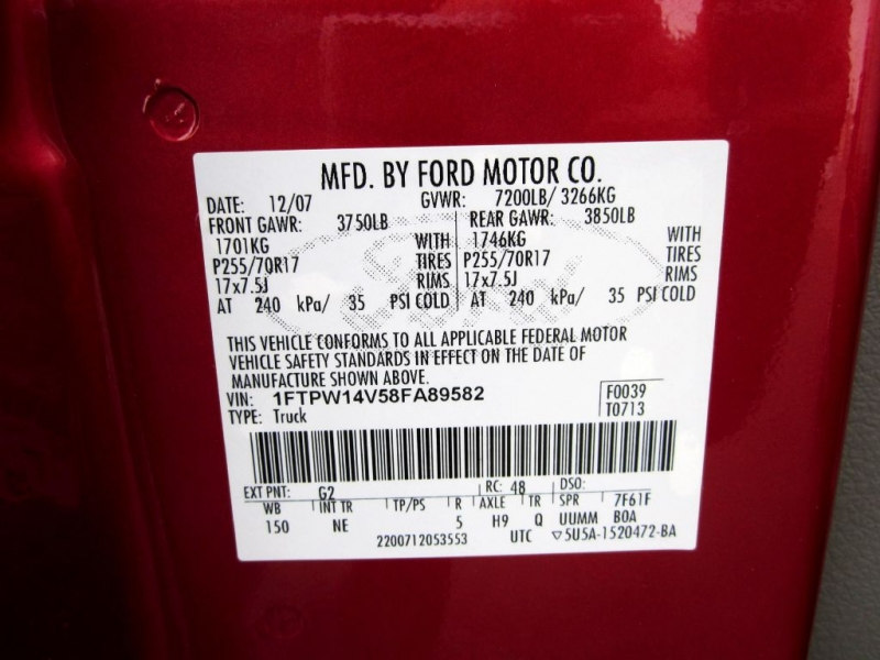FORD F150 2008 price $8,999