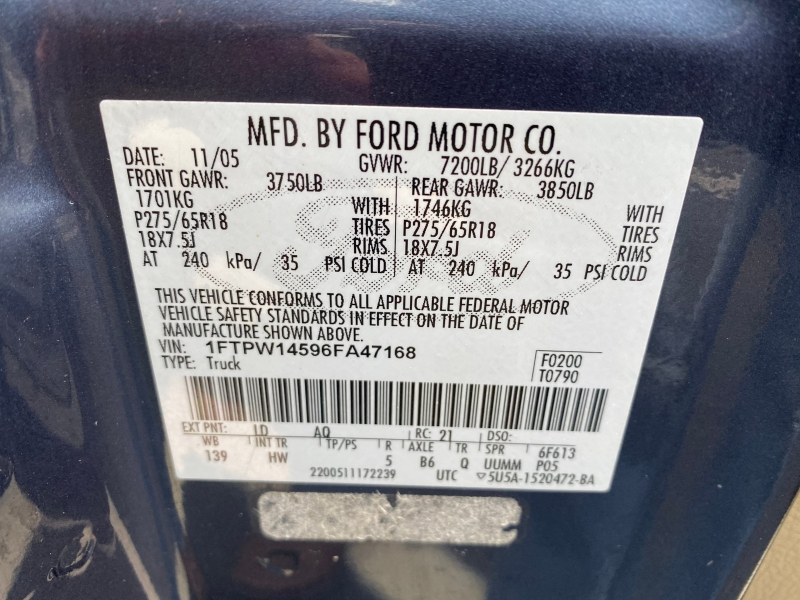 Ford F-150 2006 price $6,980