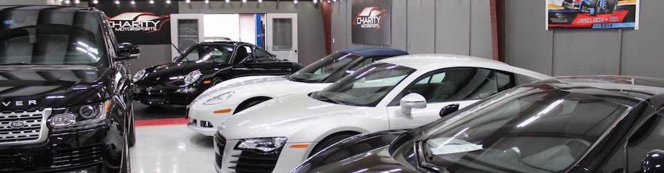 Lineup of Vehicle Consignment Models at Charity Motorsports Dealership