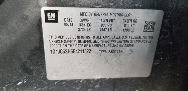 Chevrolet Sonic 2014 price $3,750
