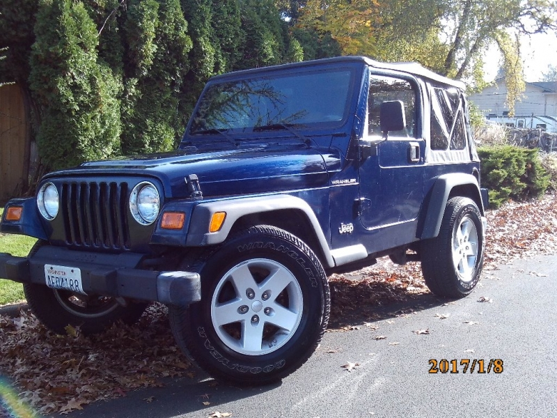 Jeep Wrangler 2001 price $6,250