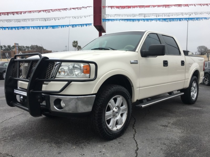2008 Ford F 150 4wd Supercrew Lariat 1 Owner Pearl White